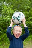 Child & ball Stock Image