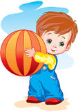The child with a ball Royalty Free Stock Images