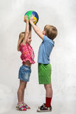 Child with ball Stock Photos
