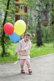 Child with balloon stock image