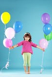 Child with balloons Royalty Free Stock Photos