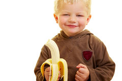 Child with banana Royalty Free Stock Image