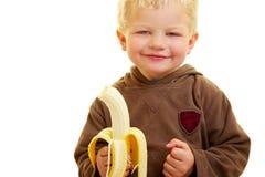 Child with banana Royalty Free Stock Image