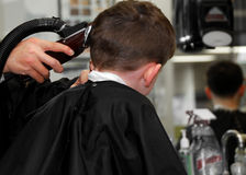 Child at Barbershop Royalty Free Stock Photos