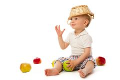 Child with basket Stock Image