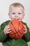 Child with basketball Stock Photography