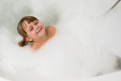 Child in bath Royalty Free Stock Photo