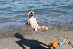 Child bathe in sea Stock Photography