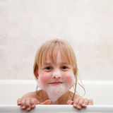 The child is bathed Royalty Free Stock Photos