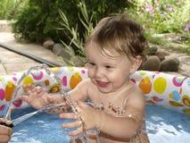 Child bathes Royalty Free Stock Photo