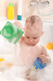 Child bathing Stock Image