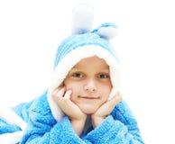 Child in bathrobe Royalty Free Stock Photos