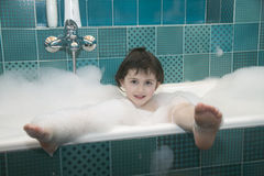Child in the bathroom Royalty Free Stock Photo