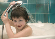 Child in the bathroom Royalty Free Stock Photography