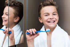 Child in bathroom Royalty Free Stock Photo