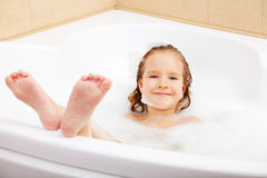 Child in the bathtub Stock Photos