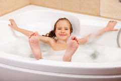 Child in the bathtub Royalty Free Stock Image