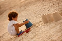 Child at the beach Stock Image