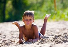 Child on the beach Royalty Free Stock Photo