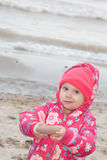 Child on beach. Stock Images