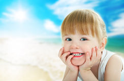 Child on beach Stock Photography