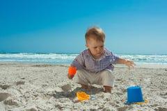 Child on a beach Stock Photo