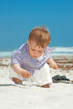 Child on a beach Royalty Free Stock Photos