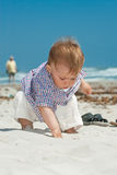 Child on a beach Stock Photos
