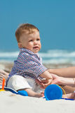 Child on a beach Royalty Free Stock Photo