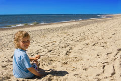 Child on beach Royalty Free Stock Image