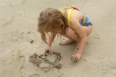 Child on the beach. Of pacific ocean. ecuador. south america stock images