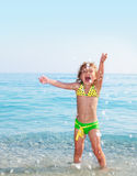 Child on beach Royalty Free Stock Photos