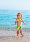 Child on beach Stock Photography