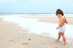 Child on a beach Royalty Free Stock Images