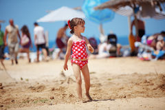 Child at beach Royalty Free Stock Photography