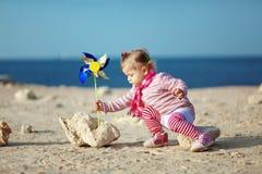 Child at the beach Stock Photo