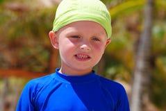 Child on the beach. Happy little boy on the beach stock photos
