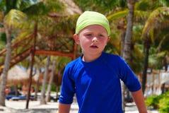 Child on the beach. Happy little boy on the beach royalty free stock photos
