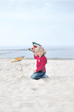 Child on the beach. Royalty Free Stock Photo