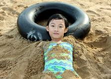 child in beach Stock Photos