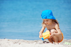 Child at beach Stock Photos