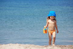 Child at beach Stock Photography