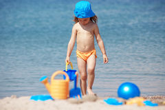 Child at beach Royalty Free Stock Image