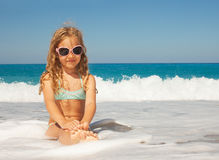 Child on the beach Royalty Free Stock Image