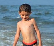 Child of the beach stock image
