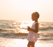 Child on the beach Stock Photography