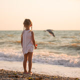 Child on the beach Royalty Free Stock Photography
