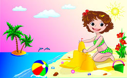 A child on the beach Stock Image