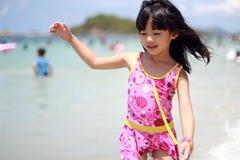 Child on beach. A Child on the sea stock photos