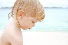 Child on Beach Royalty Free Stock Photo